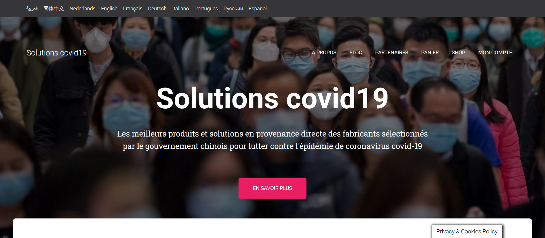 Home page www.solutions-covid19.com